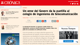 Crónica Global explica les irregularitats del col·legi d'en Ferran Amago